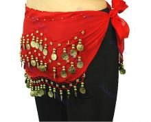 Пояс для восточных танцев Belly Dance Красный