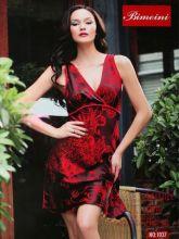 Халат сорочка женская красная